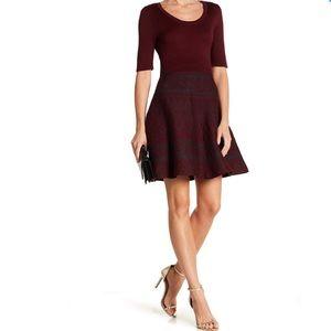 Scoop neck fit & flare knit dress